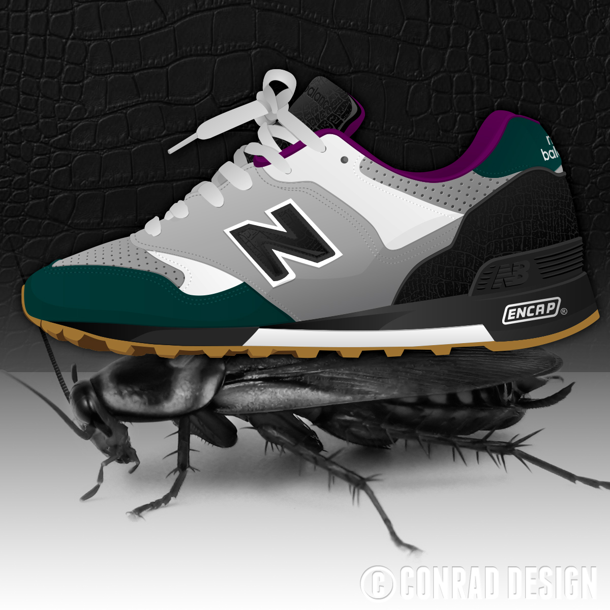 "New Balance 577 ""Kakkerlak"" Illustration"