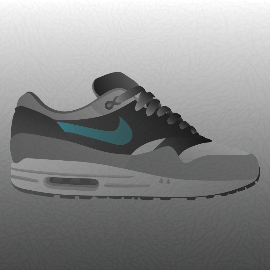 Air Max 1 Elephant Abstract Illustration