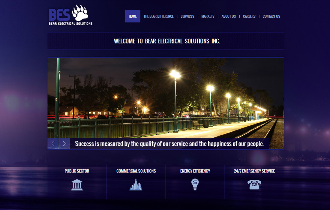 Bear Electrical Solutions Website Design