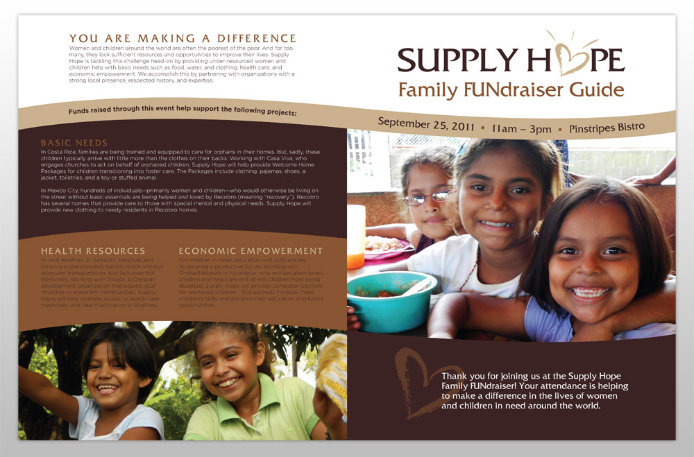 Supply Hope Brochure & Event Guide