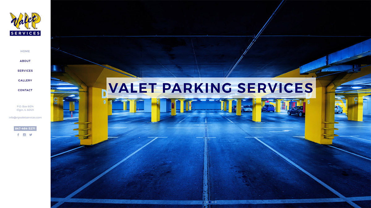V.I.P. Valet Website Design Full Screen Slideshow