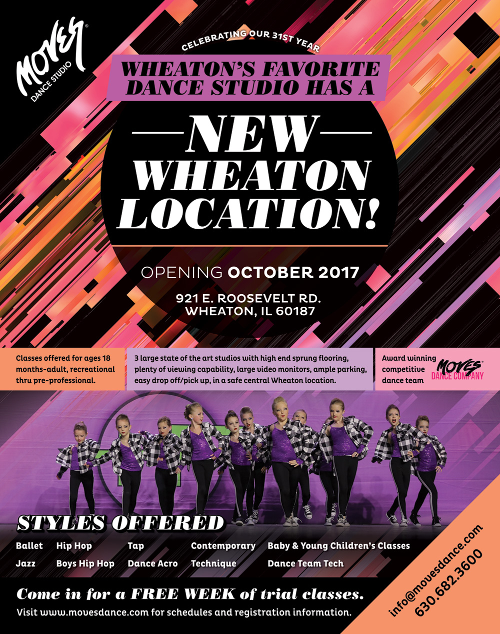 Moves Dance Studio New Location Poster